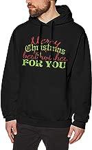 Men's Hooded Sweatshirt Merry Christmas Best Wishes For You HoodyBlack