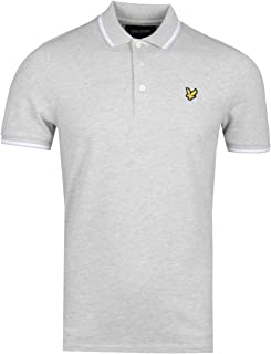 243b24378 Lyle & Scott Light Grey Tipped Polo Shirt