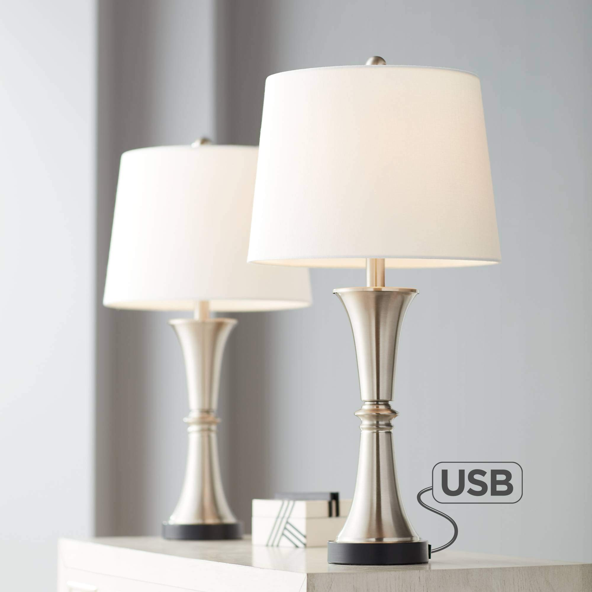 Seymore Touch Table Lamps Ports