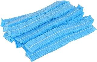 Disposable White Mob Caps Hair Net Spray Tanning Caps/Mop/mob caps (Blue) 100 Pcs