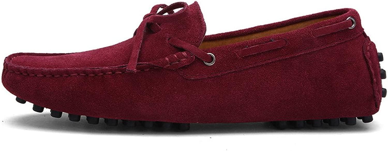 CHENDX Schuhe, Herren Rubber Rubber Studs Sohle Driving Penny Loafers Mode aus echtem Leder Stiefel Mokassins (Farbe   Wein, Größe   39 EU)  Blitzlieferung