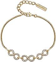 MESTIGE Women Glass Gold Never-ending Bracelet with Swarovski Crystals