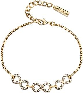 ميستيج اساور ذراع كاجوال للنساء , طلاء ذهبي , MSBR3491