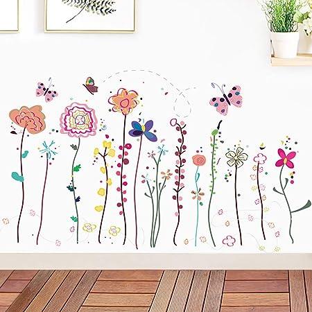 Garden Branch Floral Wall Sticker Nursery Decal Baby Cot Home Decor Kids Art DIY