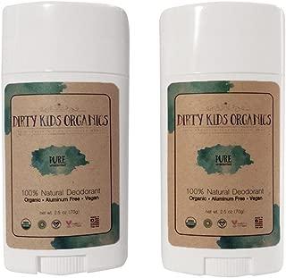 Certified Organic Kid's Deodorant Stick (Dirty Kids Organics) Unscented