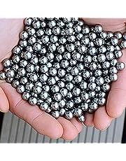 Twakom Rodamientos de bolas de acero al carbono, bolas de rodamiento de bicicleta, munición de tirachinas catapulta, agitador de pintura y rodamientos de monopatín, 100 unidades, 6 mm