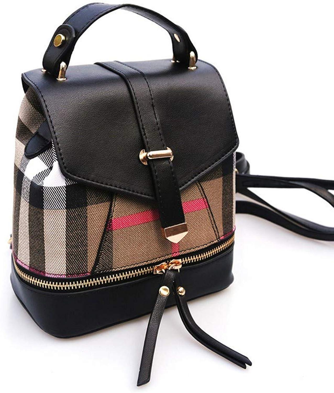 DYR Backpack Lady Handbag Student Bag Outdoor Travel Backpack Leisure Business Bag, Black