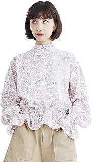 (メルロー) merlot フリルハイネック小花柄ブラウス