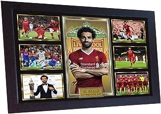 S&E DESING MO Salah Liverpool Print Photo Poster Signed Mohamed Salah Liverpool Framed