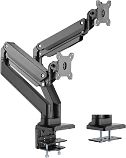 WALI Dual Monitor Gas Spring Desk Mount Heavy Duty Aluminum Fully Adjustable Fit Screen up to 35 inch, 33 lbs Each Screen,...
