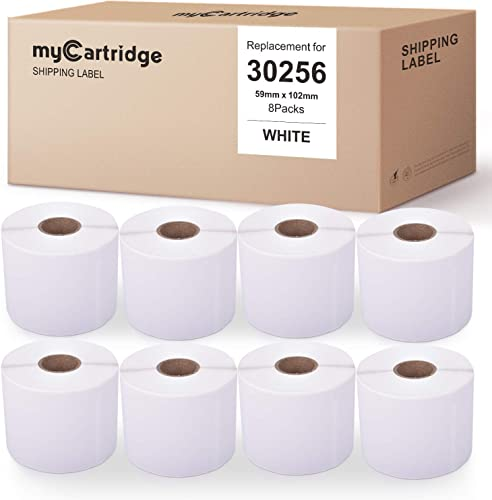 new arrival myCartridge 8-Rolls Compatible with Dymo 30256 2021 White Address Labels 2-5/16 Inch x 4 Inch 300 Labels/Roll Premium Self-Adhesive outlet sale for LabelWriter 450 Turbo 450 Duo 450 4XL online sale