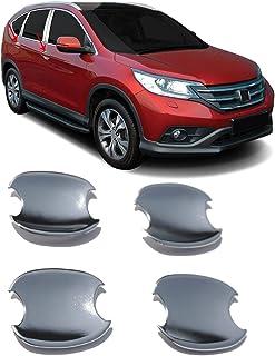OMAC Acessórios exteriores de automóveis cromados para maçaneta de porta 4 peças | Capas de decoração de estilo de carro d...