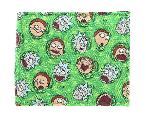 Adult Swim Rick Adult Swim Rick and Morty Allover Print Quickturn Bifold Wallet