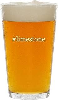 #limestone - Glass Hashtag 16oz Beer Pint