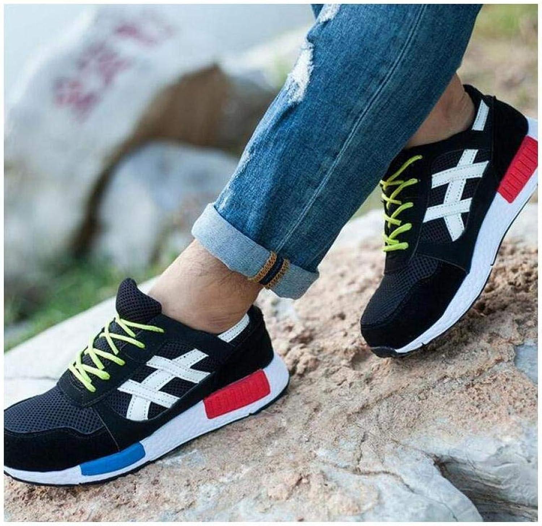 FidgetFidget Women's Mens Couples Steel ToWork BreathablSneakers Sport Casual shoes Black EU 35 =US 4.5 =UK