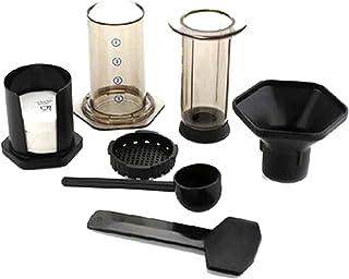 フィルターガラスエスプレッソコーヒーメーカーポータブルカフェフレンチプレスカフェコーヒーポット用エアロプレスマシン