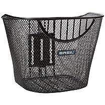 Basil Berlin cesta delantera de bicicleta hecha en acero negro se coloca en la potencia de tu bici de forma firme