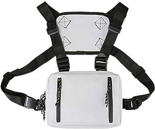 Bolsa de pecho, doble apertura Graffiti Hip Hop Style Crossbody Bolsos Writer Chest Bag Hombres Mujeres Oxford Streetwear ...