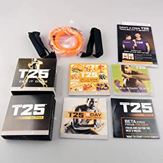 T25 Shaun T's 10 DVD Workout Program | Comprehensive Fitness Guide & Nutrition Plan Included