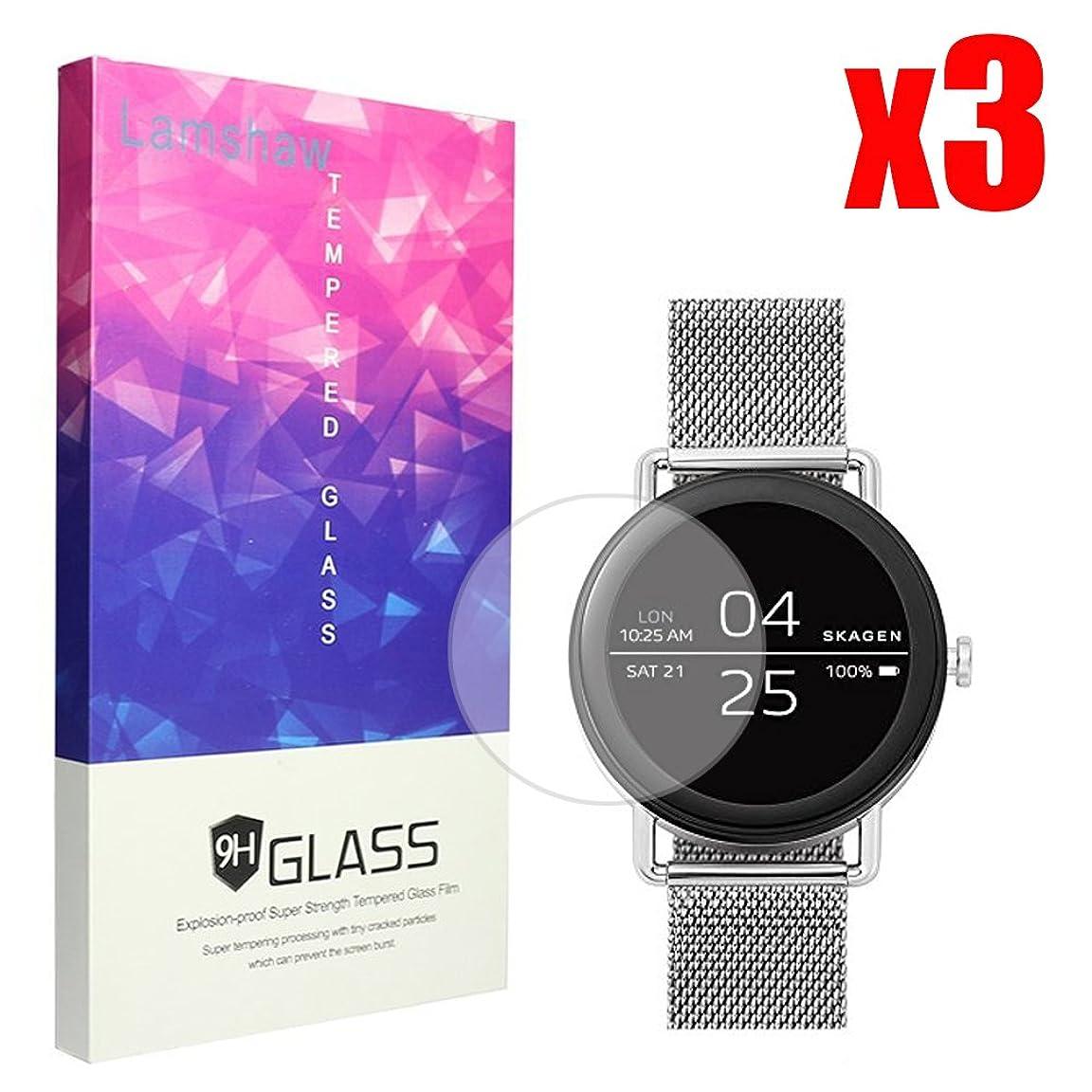 シュートログ体操選手Lamshaw Skagen Falster 保護フィルム, 9H ガラスフィルム カバー 対応 SKAGEN 腕時計 FALSTER タッチスクリーンスマートウォッチ (3枚)