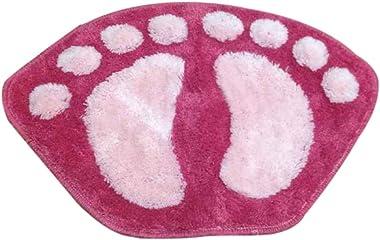 Pink Big Feet Non-Slip Bathroom Rugs Bedroom Living Room Kitchen Rug, 23.6x15.7 inch