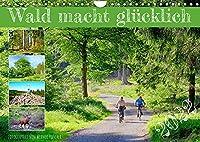 Wald macht gluecklich (Wandkalender 2022 DIN A4 quer): Der Wald hat viele Gesichter (Monatskalender, 14 Seiten )