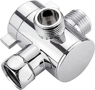 Chrome BESTOMZ V/álvula de desv/ío de la cabeza de ducha T-adapter G1 2 de tres v/ías para ducha manual