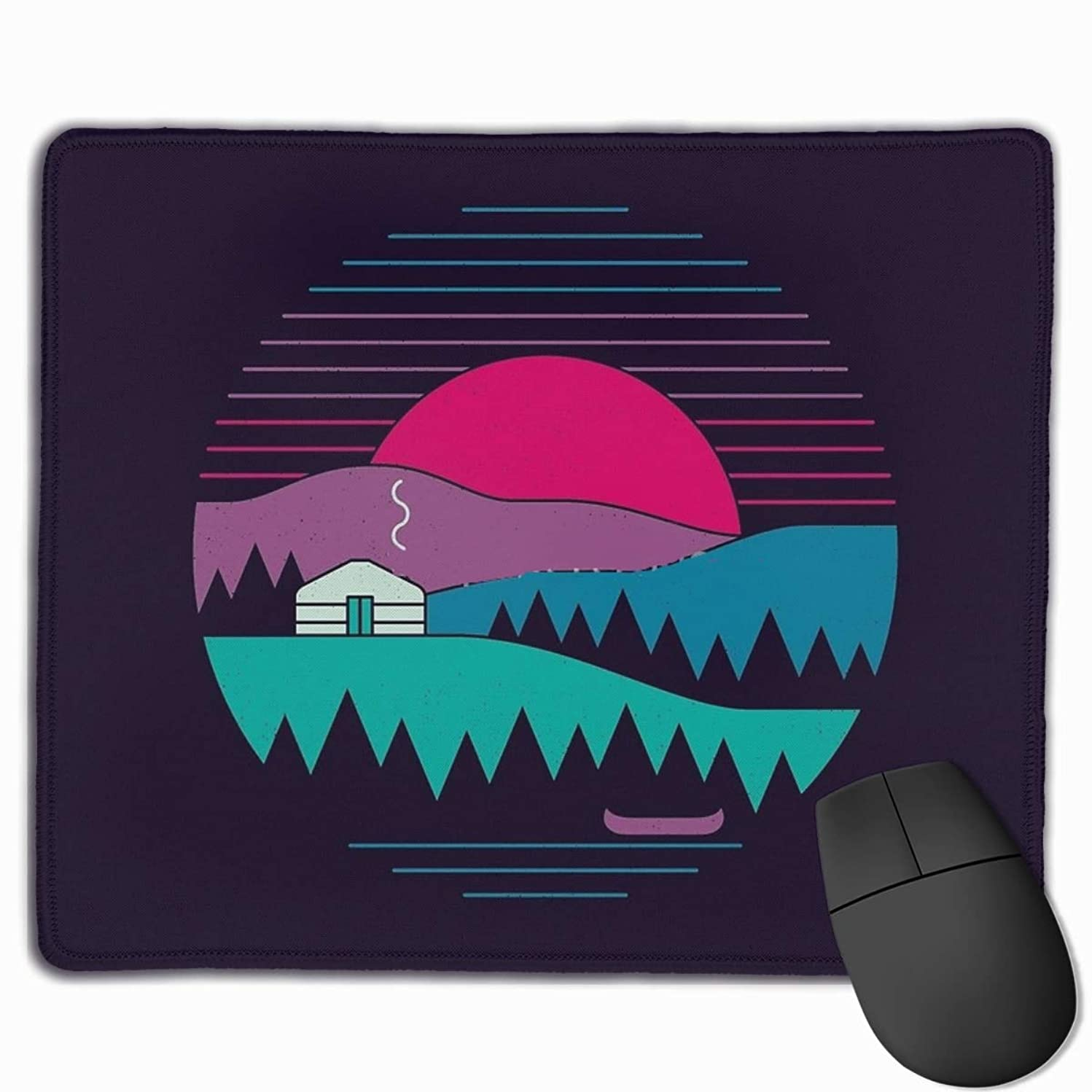 Back to Basics Gaming Mouse Pad with Non-Slip Rubber Base Mouse Mat Rectangle Mouse Pads for Home Office Working Desk Laptop