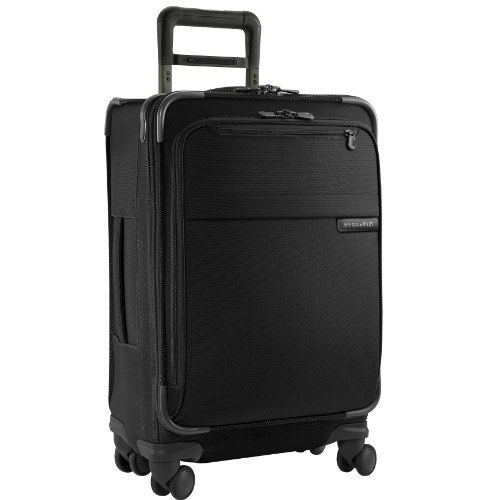 Briggs & Riley Baseline-Softside Carry-On Spinner Luggage, Black, 22-Inch