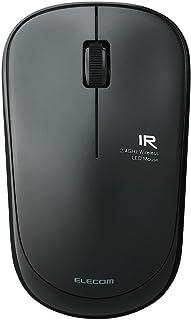 エレコム ワイヤレスマウス 約2.5年電池交換不要 省電力 3ボタン ブラック M-FIR08DRBK