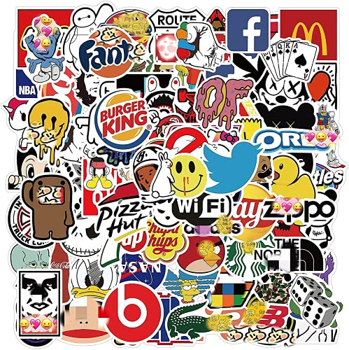 Stickers for Adults Teens,101 Packs Cool Stickers Decals for Laptop, Skateboard,Water Bottles