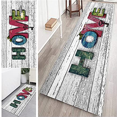 Teppich Läufer Flur Modernen, Teppich Läufer rutschfest Waschbar Anpassbar, Teppichläufer Polyester für Wohnzimmer/Flur/Büro/Schlafzimmer/Küche/Esszimmer(Farbe:COLOR3,Größe:60X90CM)