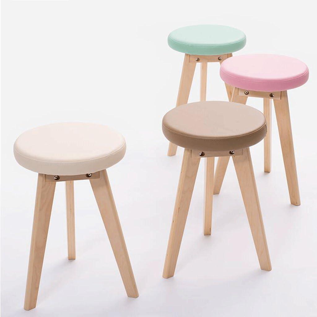 HSF Petit Banc Tabouret créatif en Bois Massif de Haute qualité 48CM Chaise (Color : C) G