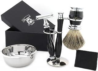 Zestaw do golenia dla mężczyzn – zestaw pędzli do golenia włosów z podstawką i miską do golenia – elegancki męski zestaw d...