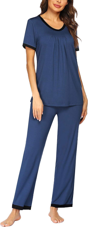 Ekouaer Pajamas Set Women's Sleepwear Sleeve Two-Piece Overseas parallel import regular item Short Houston Mall Pj