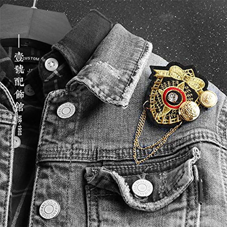 Popular summer Ja and South Korea Navy Medal of wind brooch pin jewelry men and women denim overalls children's fashion accessories