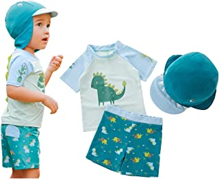 MANNEW Toddler Bathing Suit Rash Guard Swimsuit Dinosaur Costume Green Cute Diving Cloth