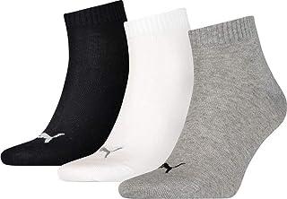 Puma Quarter Plain, Calcetín Unisex Adulto, Multicolor (Grey/White/Black), 43-46, (Pack de 3)