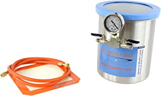 GlassVac 1.5 Gallon Tall Stainless Steel Vacuum Degassing Chamber for Wood Stabilizing