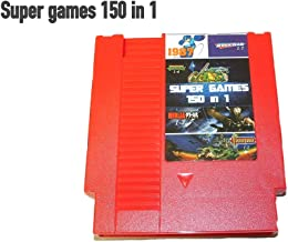 150 in 1 Super Games Multi Cart 8 Bit 72 Pin Red game cartridge