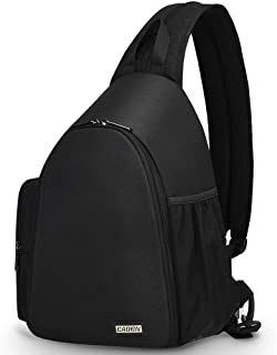 CADeN Camera Bag Sling Backpack, Camera Case Backpack with Tripod Holder for DSLR/SLR Mirrorless Cameras (Canon Nikon Sony Pentax) Black