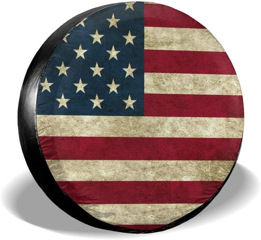 Ouqiuwa Spare Tire Cover American Atlanta Mall Universal Covers fo Popular product Flag Wheel