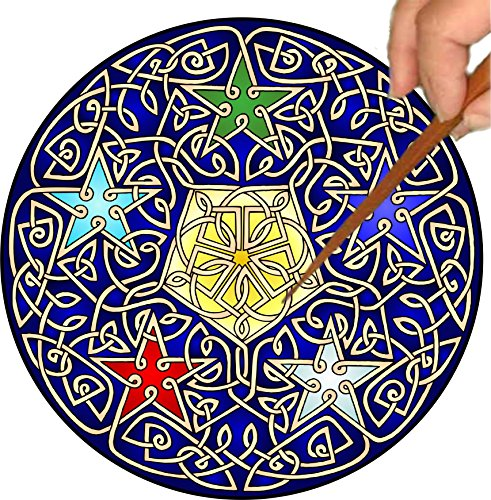 Mandalynths Celtic 5 Stars Mindfulness Art for Stress, Anxiety and Attention Management