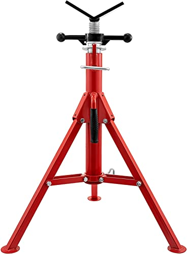 """popular Mophorn V Head Pipe outlet online sale Stand 1/8""""-12"""" Capacity, Adjustable Height 24""""-42"""", popular Pipe Jack Stands 2500 lb. Load Capacity, Portable Folding Pipe Stands, Carbon Steel Body More Durable online sale"""