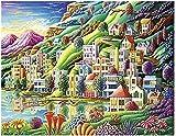 DGiigwei-Jigsaw 1000 pièces,Puzzles en Bois Jouets,Dream City Creativity Pieces Giocattolo di decompressione per Bambini adulti - Pezzi unici ad incastro tagliati