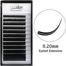 LASHVIEW 0.20 Thickness C CurlSilk Mink Fake Eyelash Extensions Mixed Tray 8-15mm Natural Thick Lashes Individual Semi-Permanent Eyelashes Application for Professional Salon Use