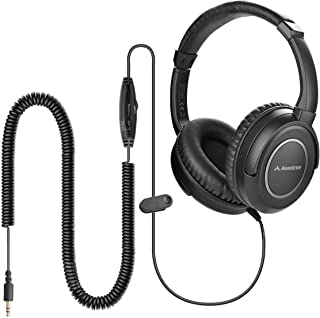 Avantree HF039 Long Coiled Cord Headphones for TV, 16.4 Feet / 5M Extended Range Cable, Over-Ear Headphones, 3.5mm Audio O...