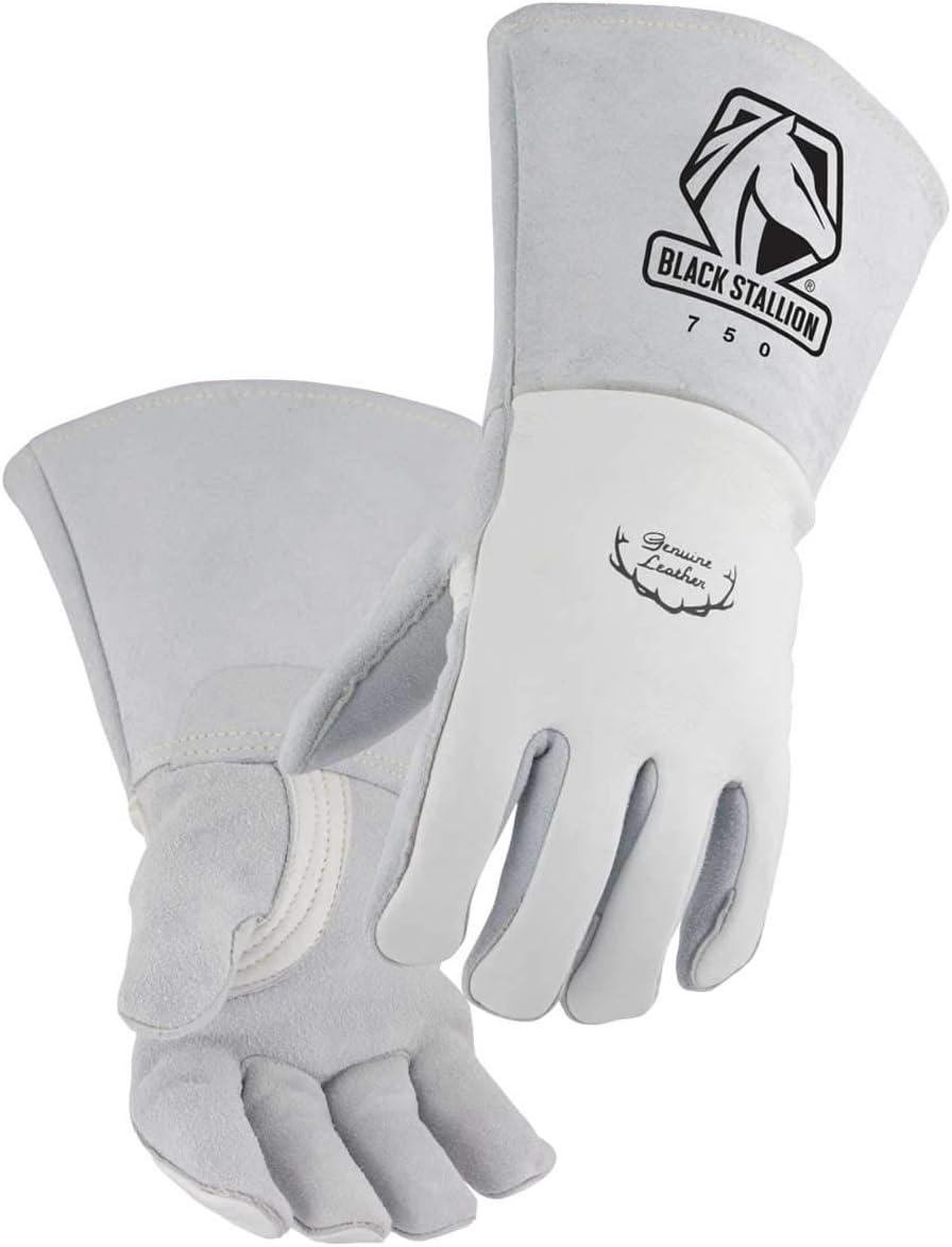 Premium Grain Elkskin Stick Welding Nomex Backing Japan's largest assortment Gloves - Size Bombing free shipping
