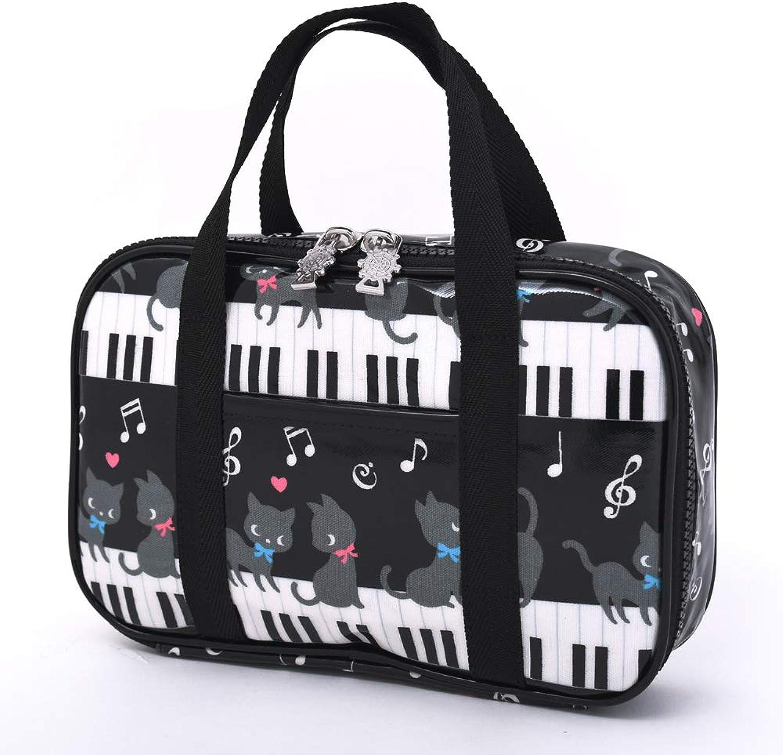 calidad garantizada Gato negro vals bailando en la parte parte parte súperior de la caja en el estilo de costura para ninos, piano kit de costura (negro) hecho en Japoen N2.3.1.4.8.1.0  venta con alto descuento