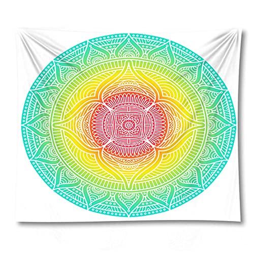 Tapiz by BD-Boombdl Mandala Color encaje decorativo arte de la pared impresión manta tapiz decoración del dormitorio cubierta de cama estera para dormir 59.05'x78.74'Inch(150x200 Cm)
